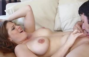 Allison Moore gets jizm on her breasts