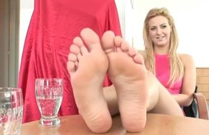 Footjob Audition - Wondrous Ash-blonde..