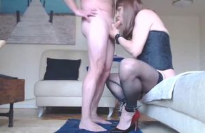 mature sissy poke mega-bitch ejects..