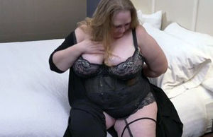 Ample big-boobed  with greedy older..