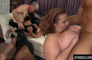 eight lush femmes with 2 studs