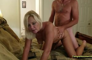 Wild housewife luvs to get pounded on..