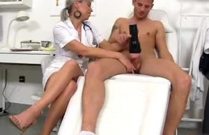 CFNM manmeat medical check-up with..