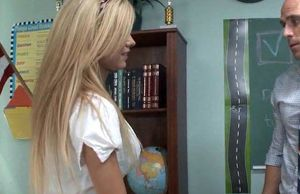 Smoking Super-steamy Blond Student