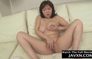 Asian cougar poked rock-hard