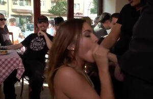 German cockslut humped in public bar
